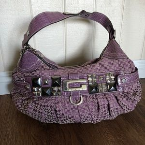 GUESS Purple Shoulder Bag & Zipper Pouch